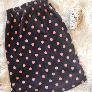 Gray & pink polka dot towel wrap